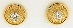Ethnic diamond button earrings