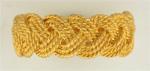 14K yellow gold braided ring