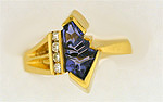 Fantasy Curren tanzanite and diamond ring