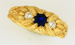Fran Cook flower motif gold ring