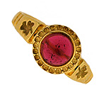 Pink tourmaline cab ring